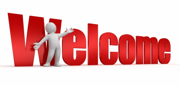 Person showing welcome