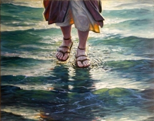 Jesus walks-on-water