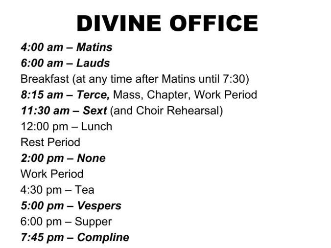 Slide - Divine Office